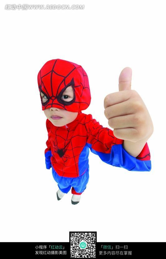 穿蜘蛛侠服装的小孩图片