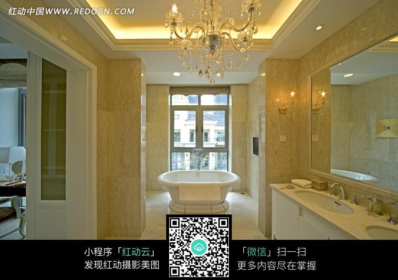 宽敞富丽的欧式卫生间_室内设计图片图片