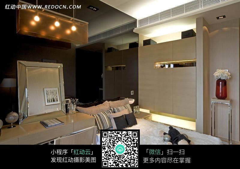 简约奢华的现代风格卧室效果图图片高清图片