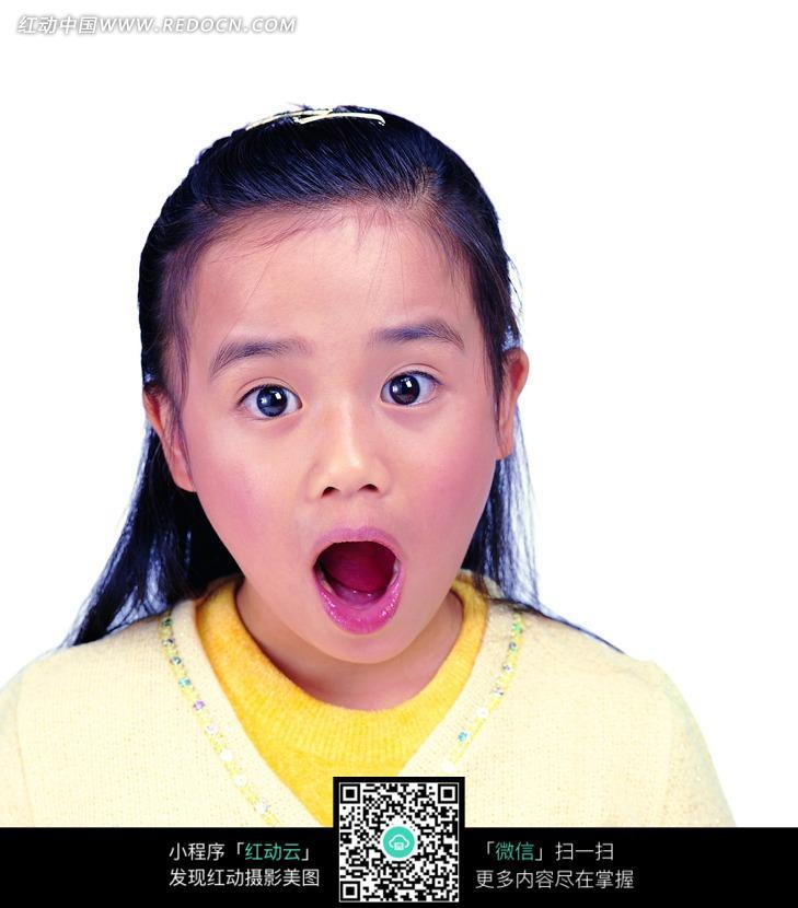 夸张表情的小女孩图片图片