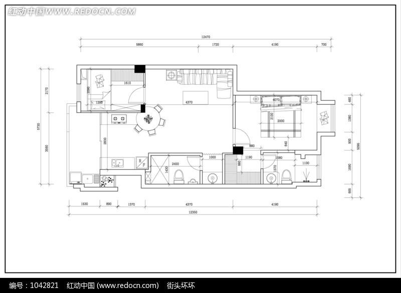 房屋 设计图 计图 平面图130平方展示图片