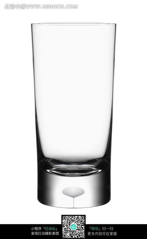 一个圆柱形玻璃杯图片