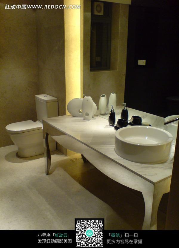 大理石 马桶 洗手盆 洗手台 装饰效果图 家居环境 时尚家具 室内设计