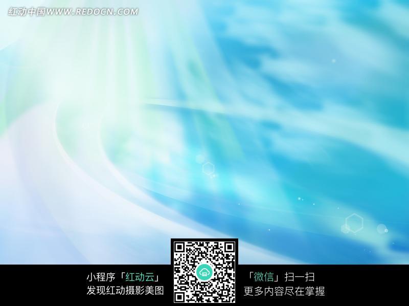 蓝底绿白光芒环纹六边形圆形背景图片免费下载 红动网图片