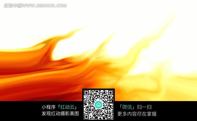 白底红火焰黄焰苗光亮背景图片图片