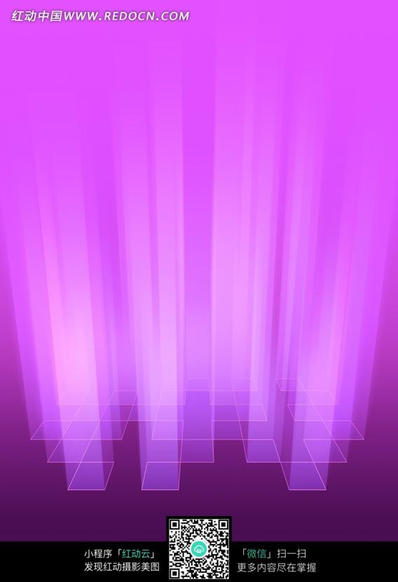 暗紫渐变紫红方格亮边重叠光束背景