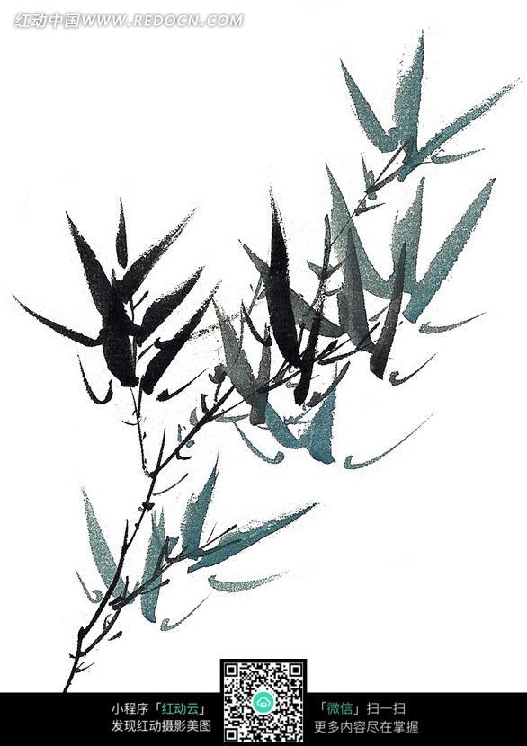 竹子水墨画图片免费下载 编号1082329 红动网图片
