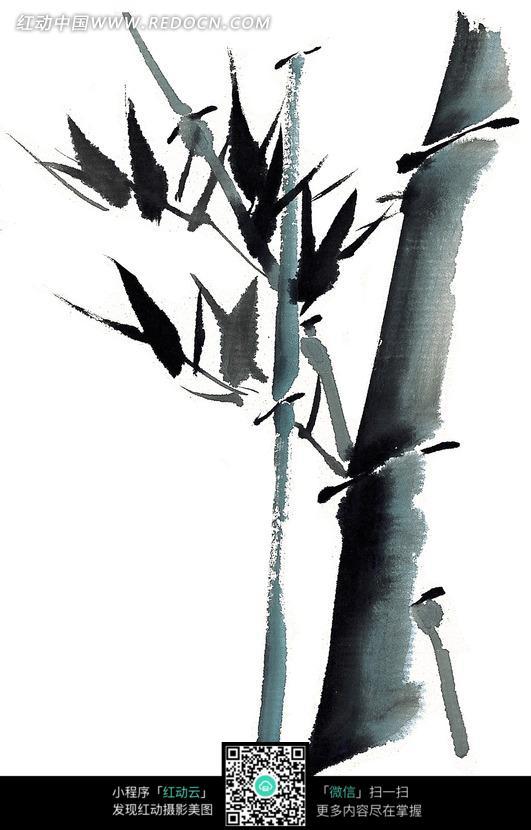 竹子水墨画图片