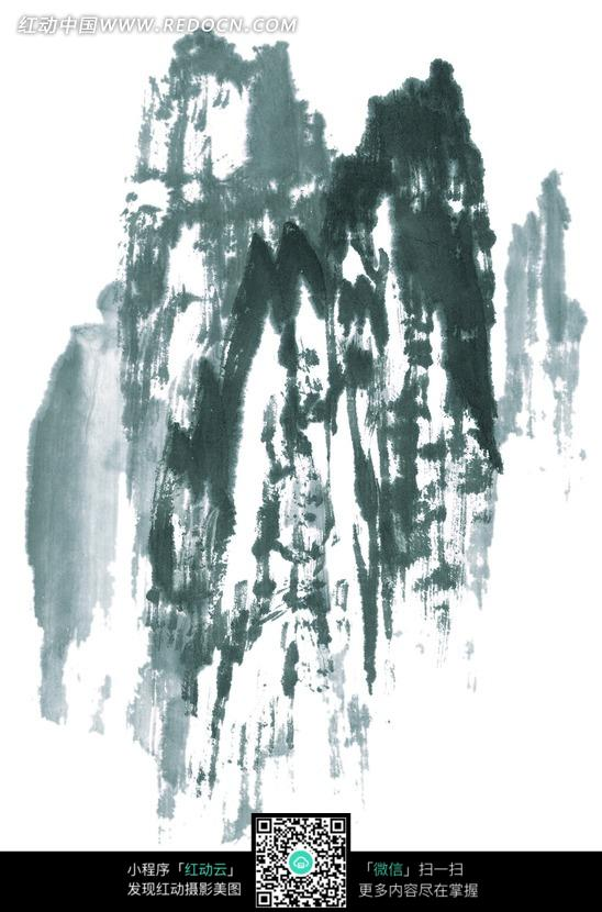 手绘水墨山峰图片