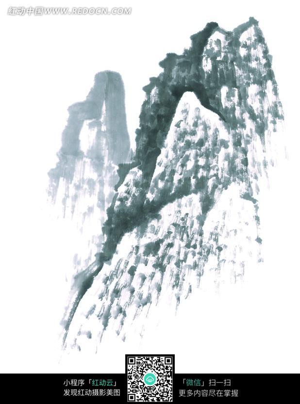 豎版水墨畫海報背景素材
