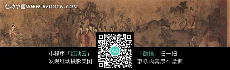 洛神赋图中国古画图片图片