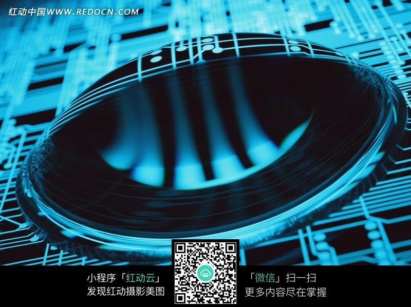 电路板上缠绕的线圈_数码背景图片_红动手机版