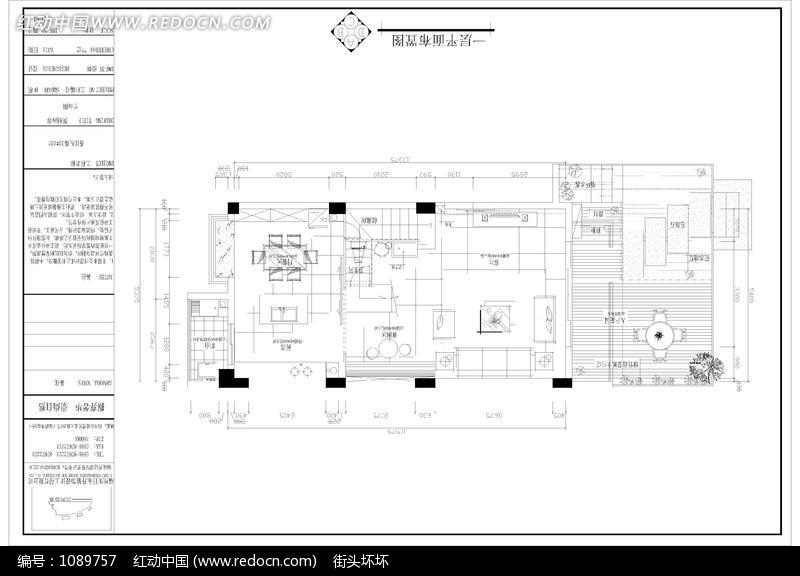 别墅一层平面设计图纸