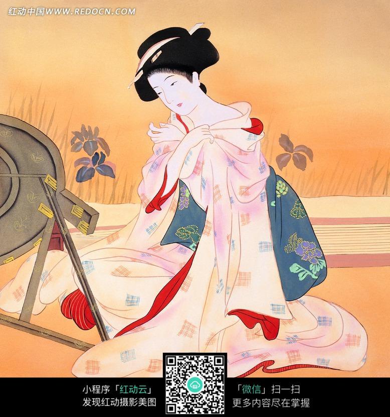 手绘中国风-东洋仕女图