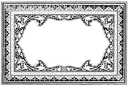 欧式单色边框花纹素材模板
