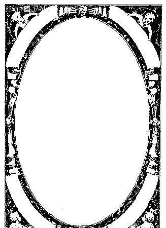黑色人物图案边框矢量素材