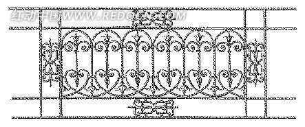 矢量护栏欧式花纺图案设计模板