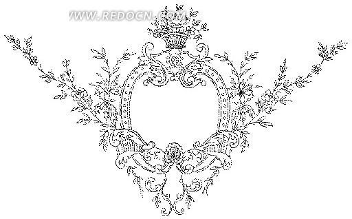 欧式卷草花纹设计模板