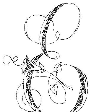 免费素材 矢量素材 花纹边框 花纹花边 字母e花草装饰字体设计矢量