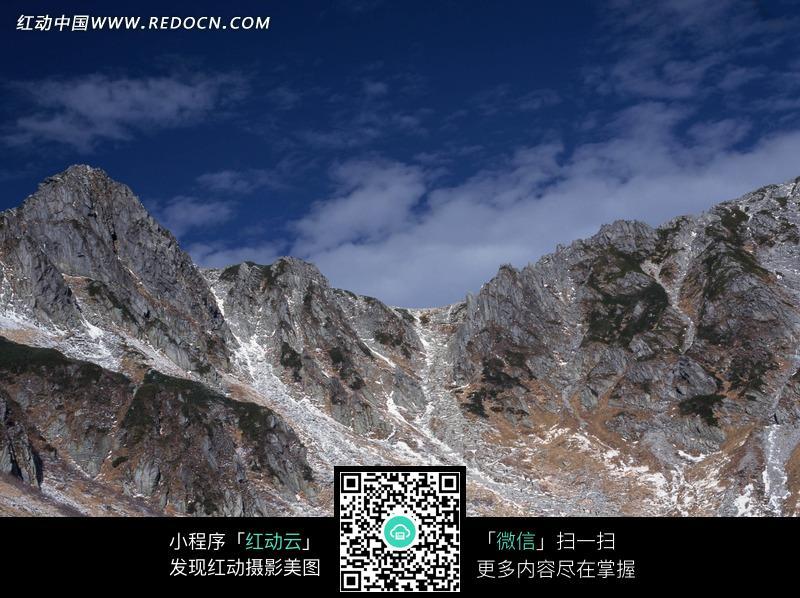 野外 荒山 岩石 蓝天 白云 自然景观 摄影素材 jpg图片素材 自然风光