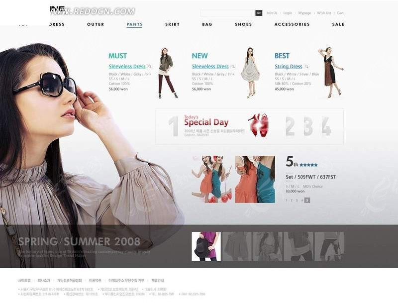 女性购物网站模板 韩国模板