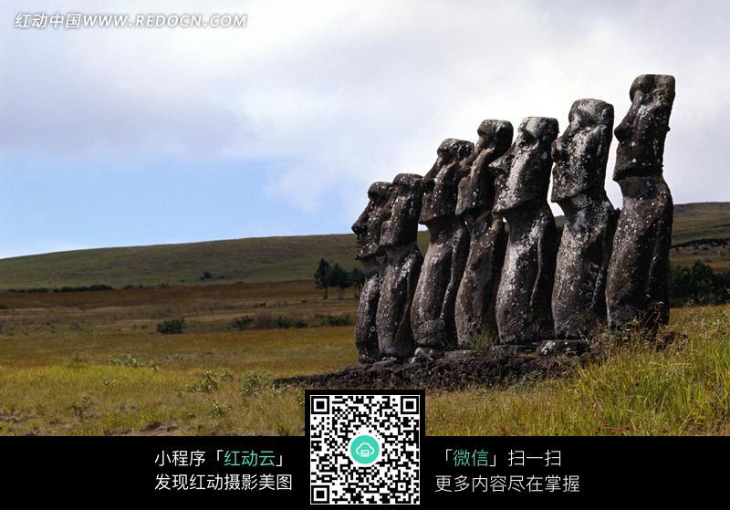 复活节岛石像图片_自然风景图片