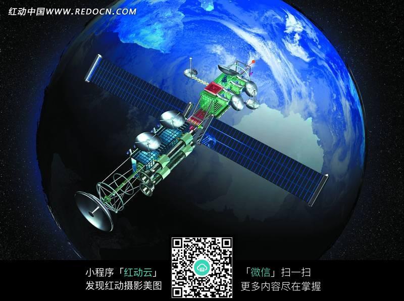 地球轨道同步卫星图片