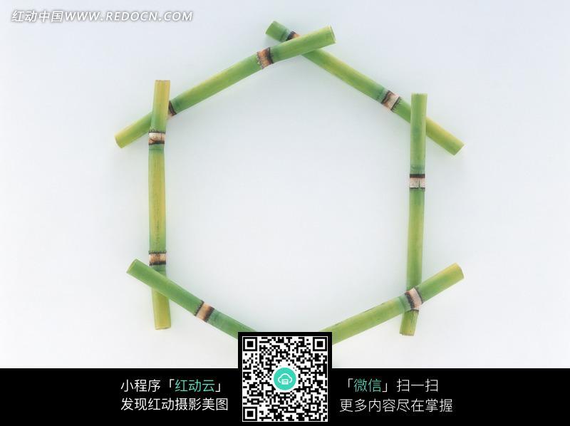 六角形竹子边框