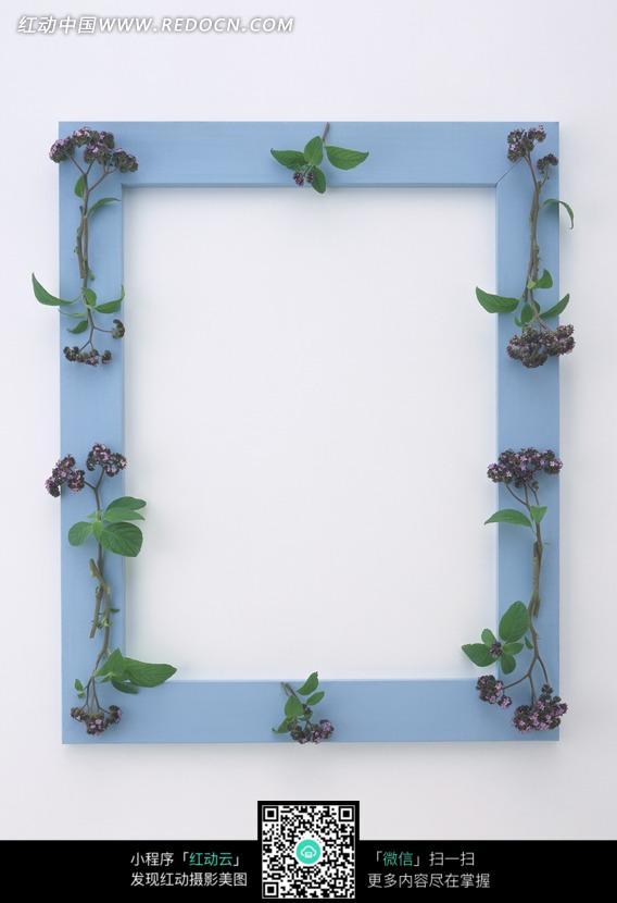 蓝色相框花边框图片 花纹花边图片