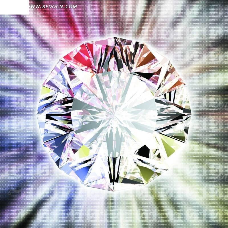卡通钻石背景图手绘