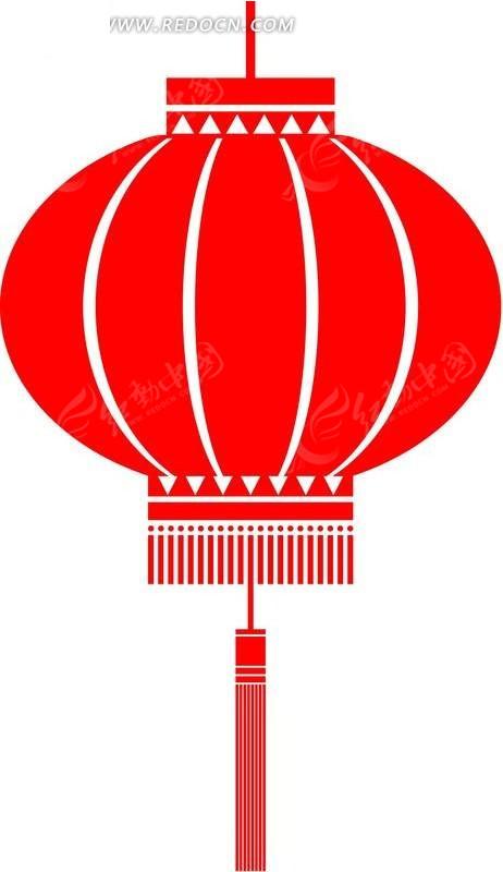 剪纸图片_传统红灯笼剪纸图案