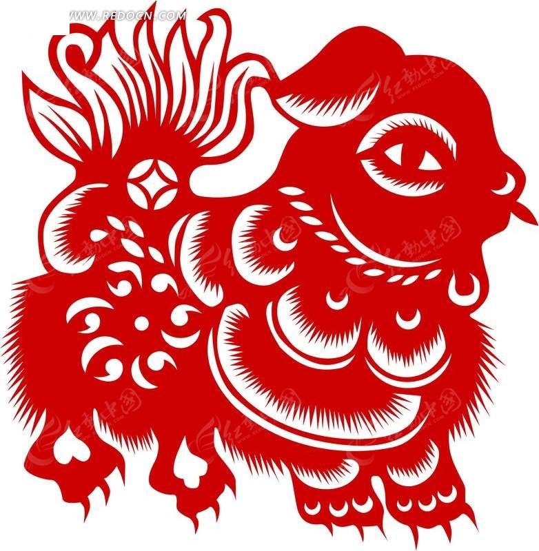 十二生肖剪纸羊_喜庆元素-生肖羊剪纸图片龙生肖剪纸生肖剪纸图片