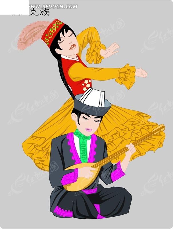 哈萨克族卡通人物psd素材图片