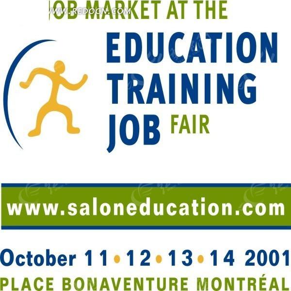 教育就业市场矢量logo素材