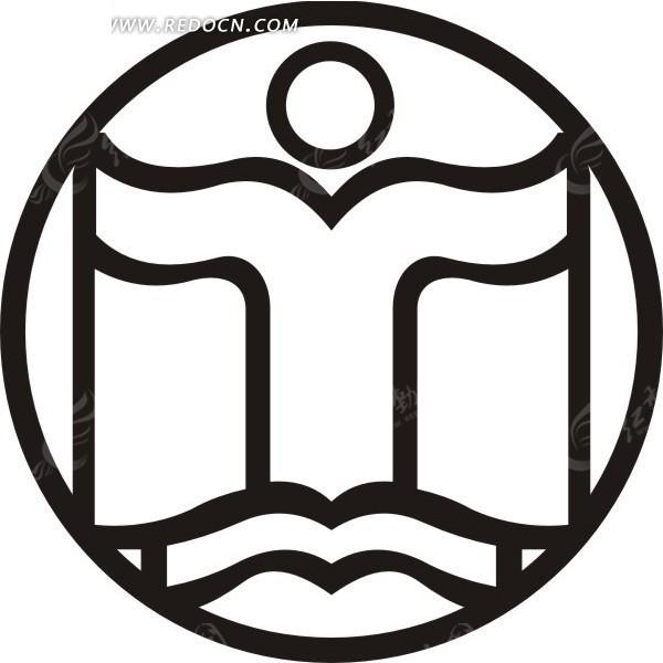 读书教育矢量logo素材