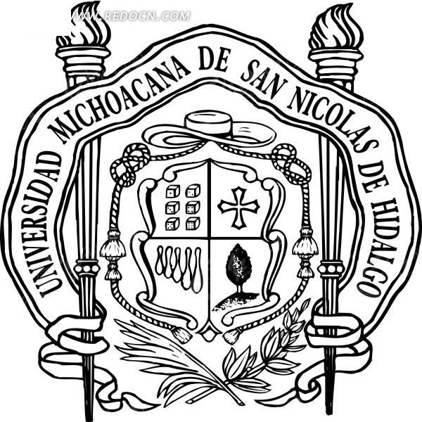 大学圣尼古拉斯·伊达尔戈广告logo矢量素材图片