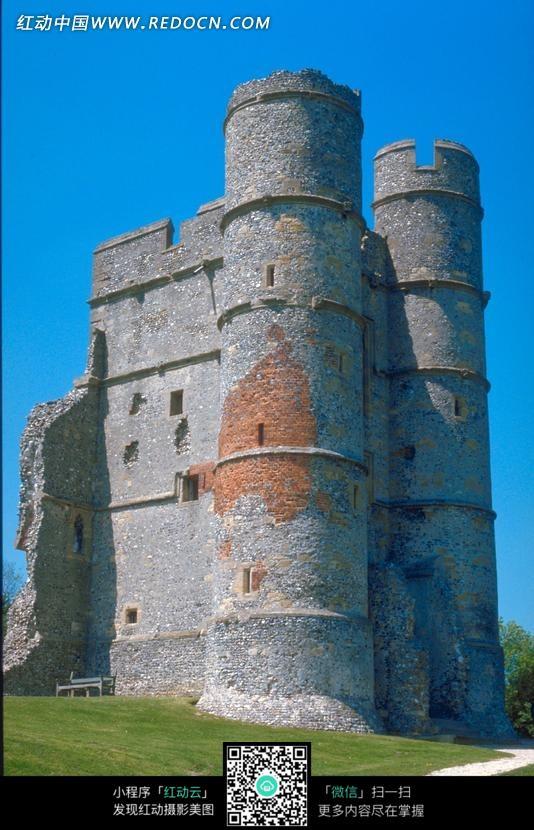 城堡 文明遗迹 摄影图片 欧式建筑 蓝天 风景摄影 名胜古迹 风景名胜