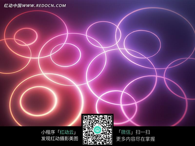 免费素材 图片素材 背景花边 底纹背景 红紫色渐变光圈背景