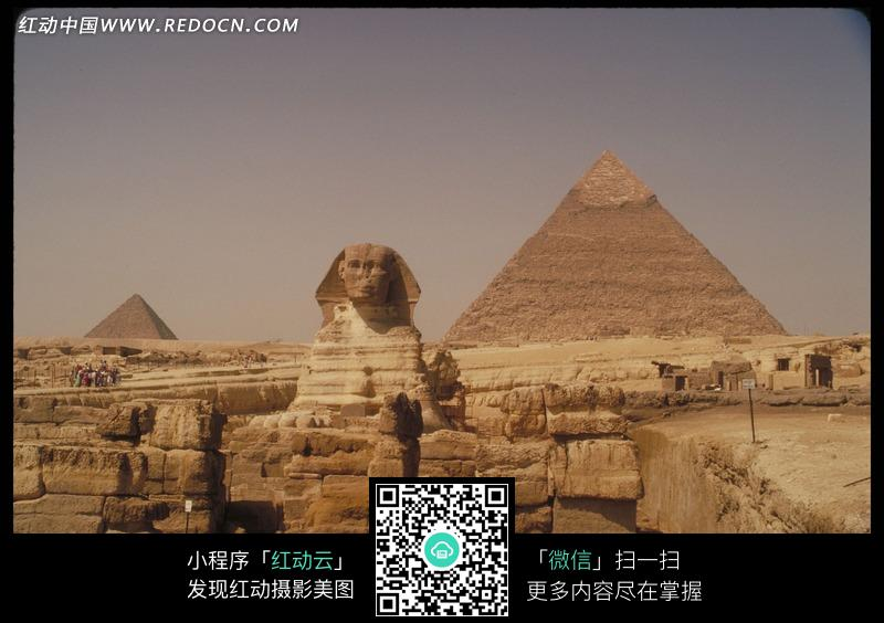 天空下的埃及金字塔_名胜古迹图片_红动手机版