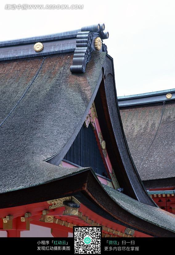中式仿古建筑屋檐图片