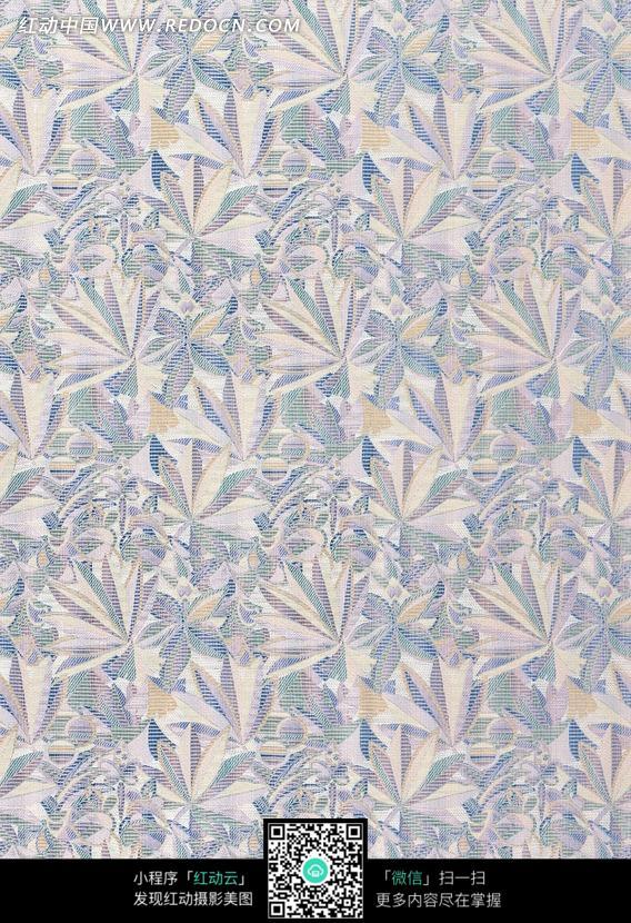 浮雕叶子花纹布艺图片