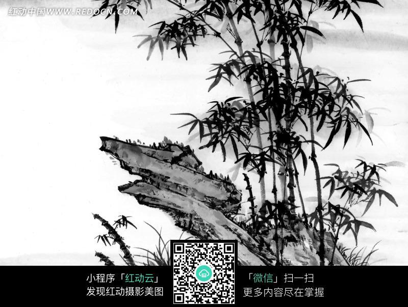 竹子水墨画图片图片