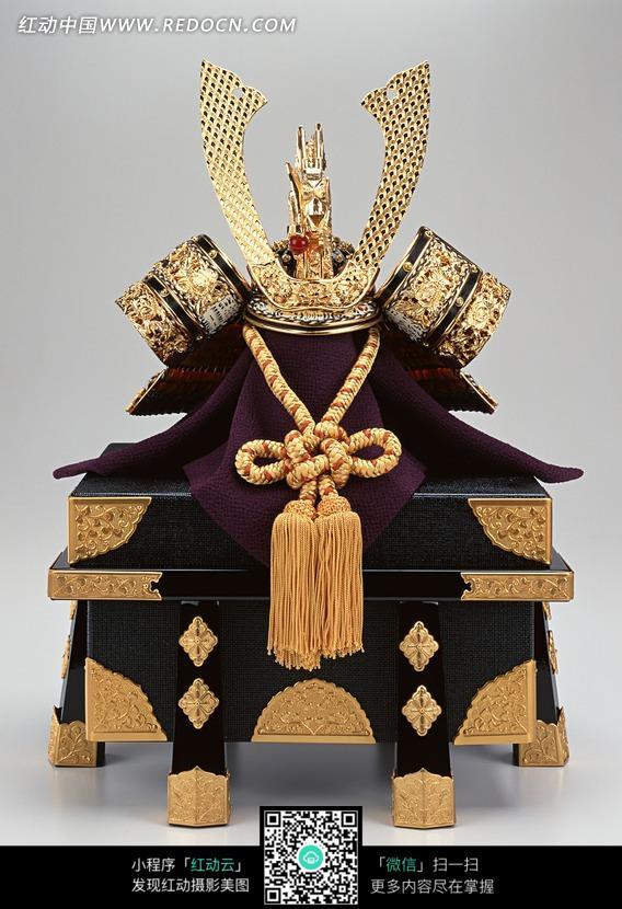 日本将军头盔和盔甲宝盒