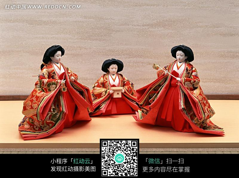 穿和服日本古代女人人偶图片