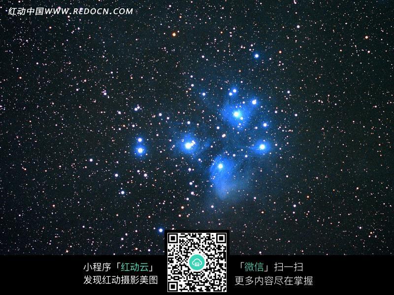 免费素材 图片素材 自然风光 自然风景 星空中蓝色的星光