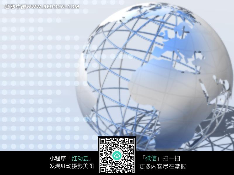 电路板上镂空地球_数码背景图片_红动手机版