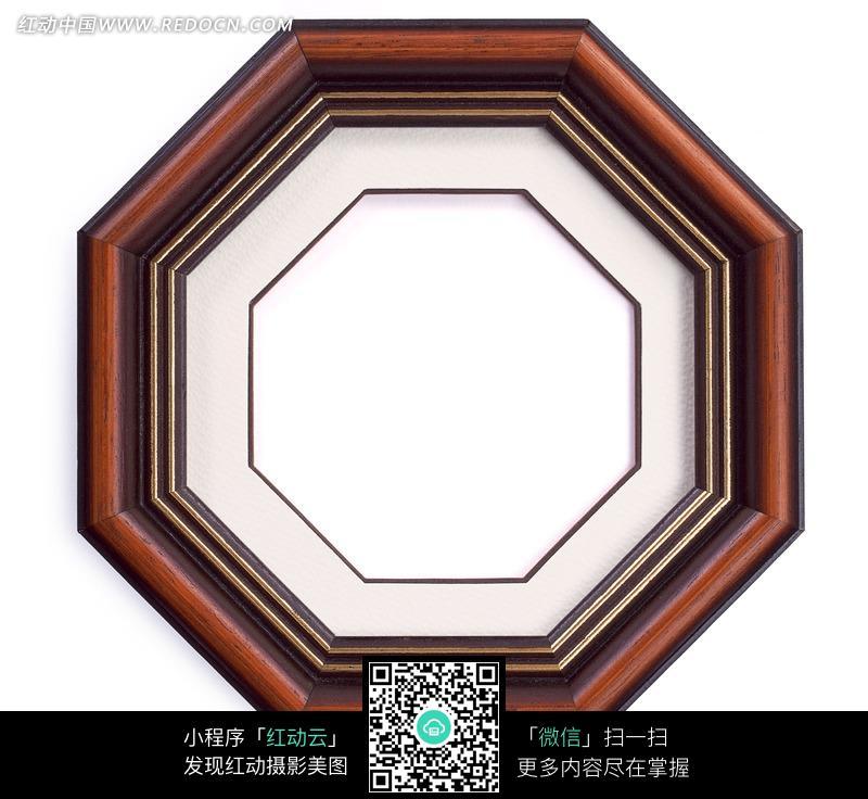 八角形木质相框_边框相框图片