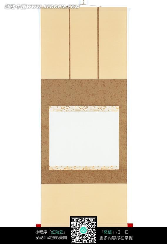 中式空白卷轴素材图片图片