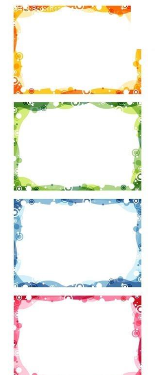 欧式花纹边框矢量模板
