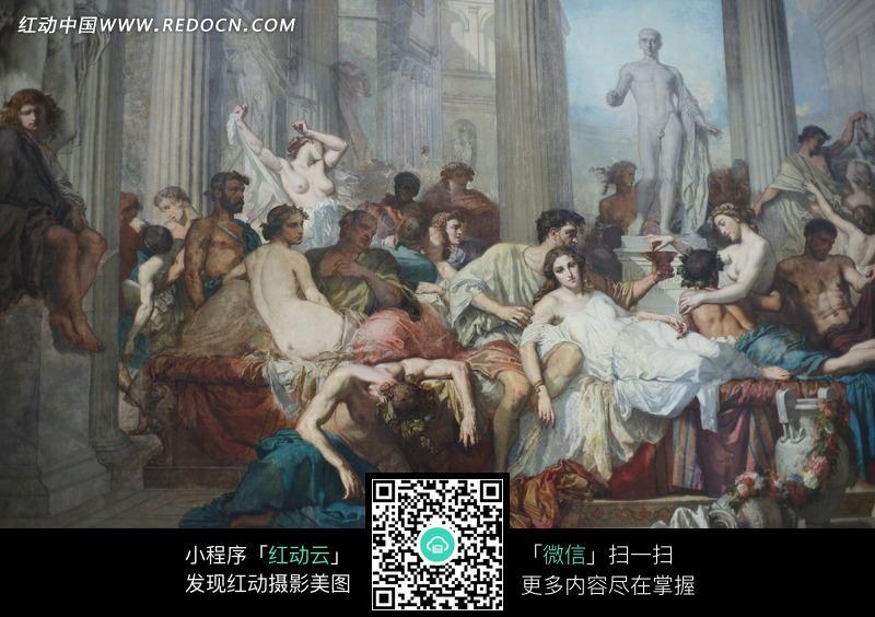 油画落难的一群外国人高中来宾电话号码图片